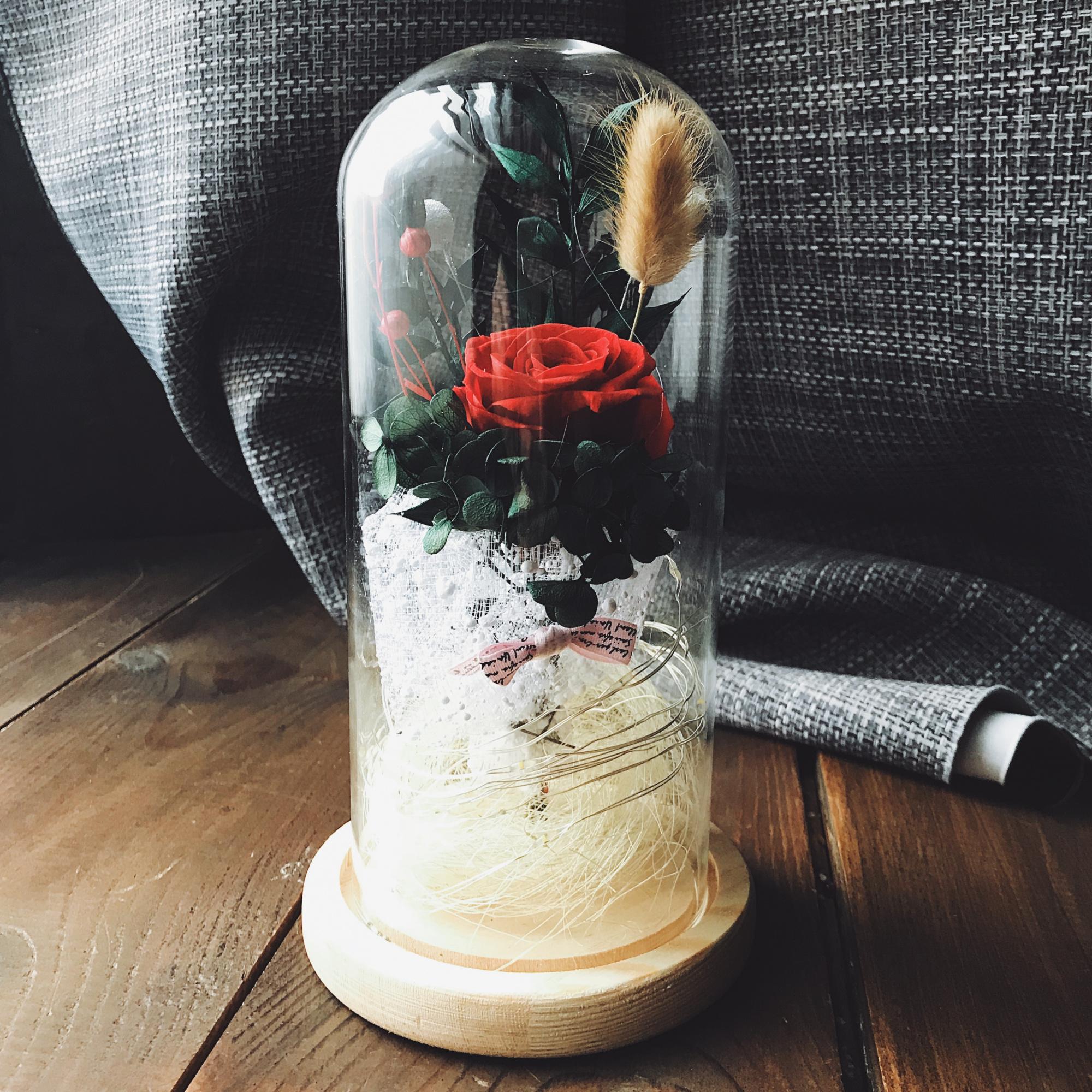 Роза в колбе с подсветкой, 21х9 см от 1 890 руб